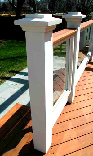 Picture of tempered glass deck railings. - Lawrence Winterburn