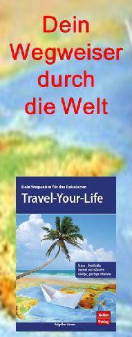 Buch mit Masterplan und Anleitungen zu vermehrtem, intensiverem und günstigen Reisen.