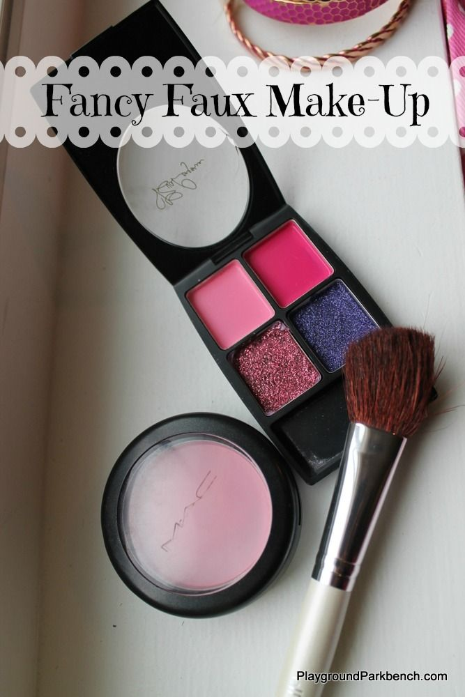 Make a Fancy Faux Makeup kits for your little girl!  Great for imaginative play, and perfect for keeping them entertained while you are trying to get ready yourself