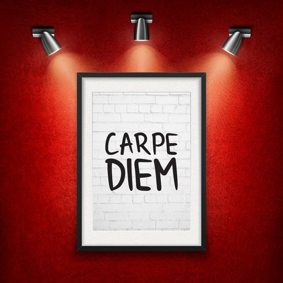 Carpe Diem Inspirational Quote DIGITAL от MotivationalThoughts