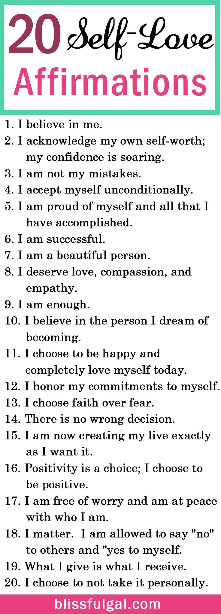 Selflove And Affirmations Quotes Can Be The Perfect Remedy To Create A  Happier Life