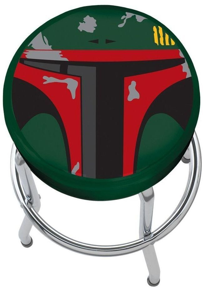 Boba Fett Plasticolor Padded Garage Bar Kitchen Counter Shop Workbench Stool #Unbranded #Novelty