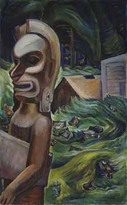 Emily Carr,  Zunoqua of the Cat Village Fine Art Reproduction Oil Painting