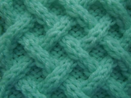 free cable knitting pattern - woven diagonals cable stitch