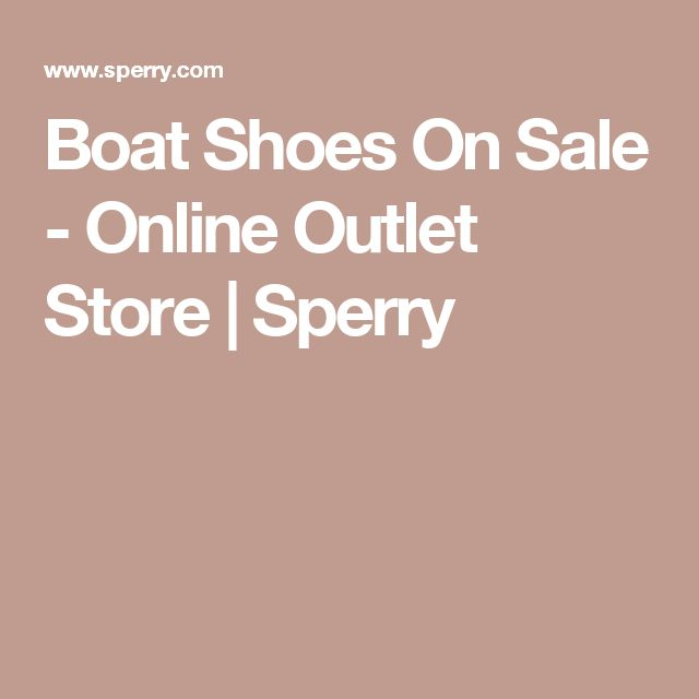 Boat Shoes On Sale - Online Outlet Store | Sperry