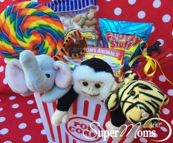 Under the Big Top Basket - The perfect Easter basket for your little animal lovers!
