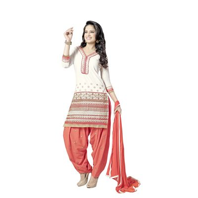 Buy Decent Wears Cream Cotton Dress Material by Decent Wears, on Paytm, Price: Rs.1150