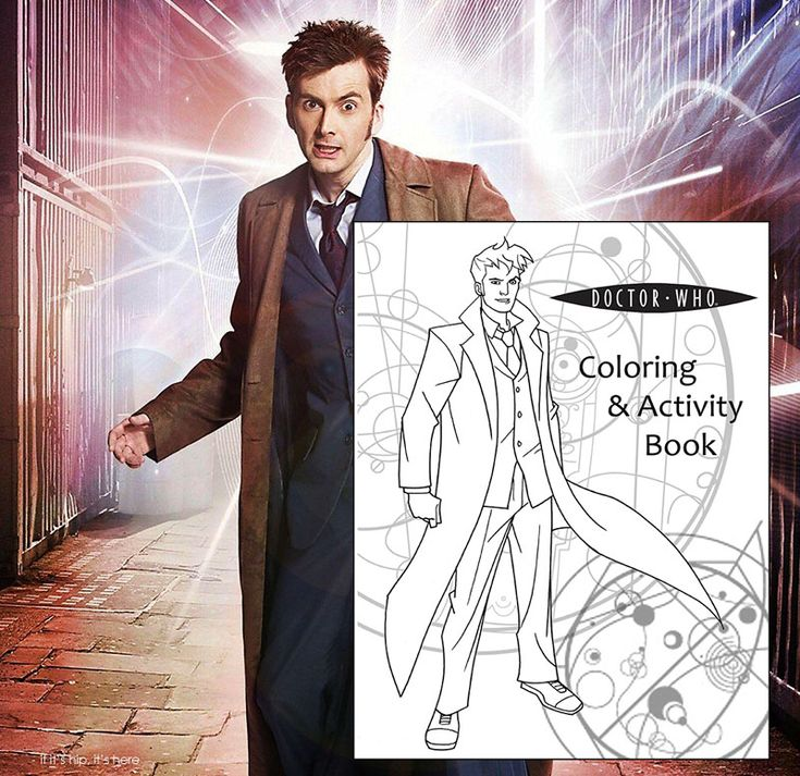 Doctor Who Coloring Book The 10th From Coolest Books For Grown