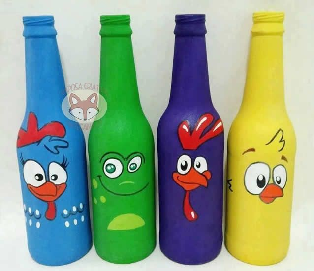 garrafas galinha pintadinha