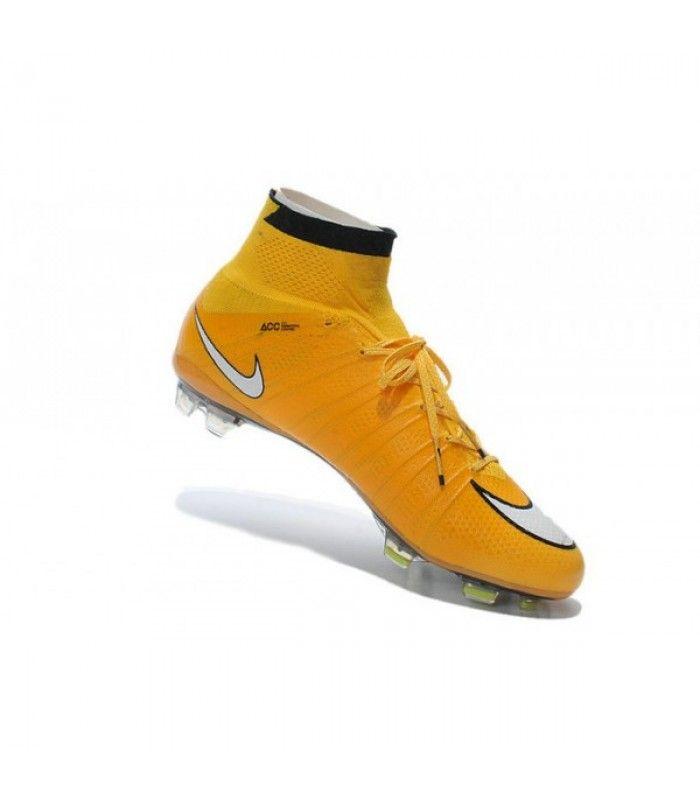 Acheter 2015 Nike Mercurial Superfly 4 FG Crampons de Football Orange Blanc Noir pas cher en ligne 114,00€ sur http://cramponsdefootdiscount.com