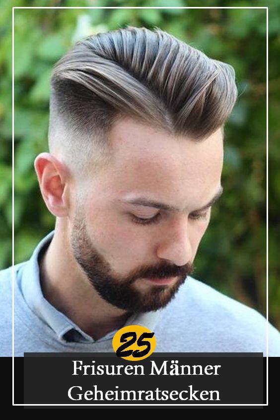 25 Frisuren Männer Geheimratsecken Zur Abdeckung von Haarausfall | Frisur geheimratsecken