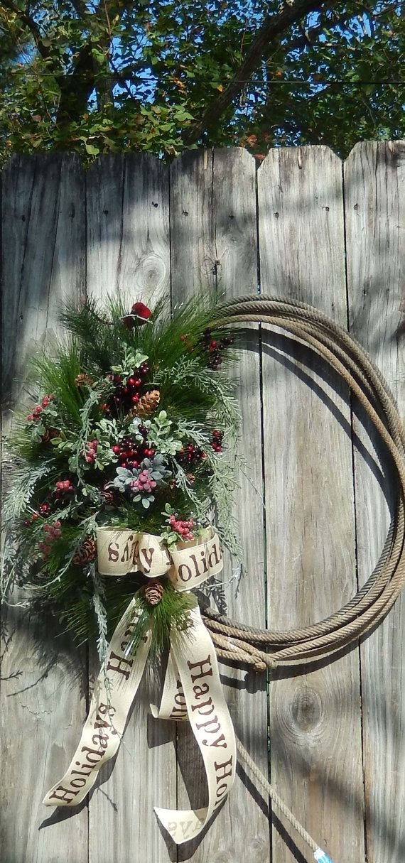 29 best rope wreath decorations images on pinterest for Decoration western country