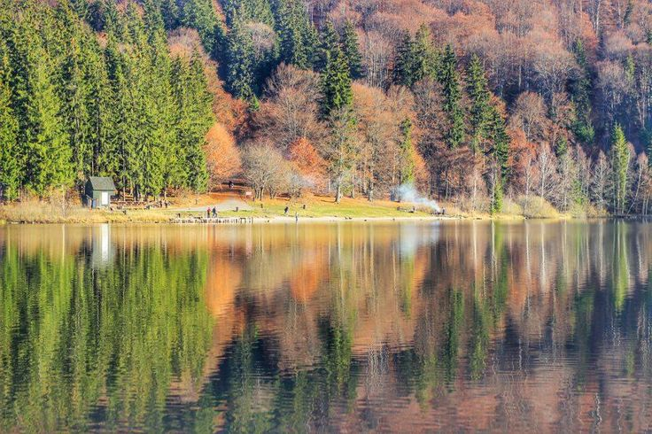 Lake St. Anne, the only volcanic lake in Romania, is situated close to Tusnad city, in Harghita county. If visiting during fall, you will be amazed by the beauty of the colors that reflect in the crystal clear waters. Such a beautiful and peaceful place!