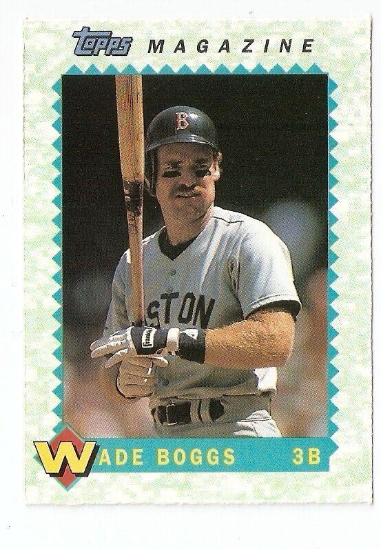 1990 Wade Boggs Topps Magazine Baseball Trading Card Tm23