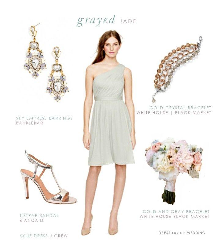 Grayed Jade or Dusty Shale Bridesmaid Dress