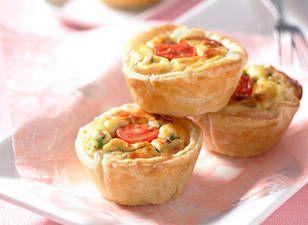 Ricotta, basil and cherry tomato quiches recipe recipe - New Idea Magazine - Yahoo!7 Lifestyle