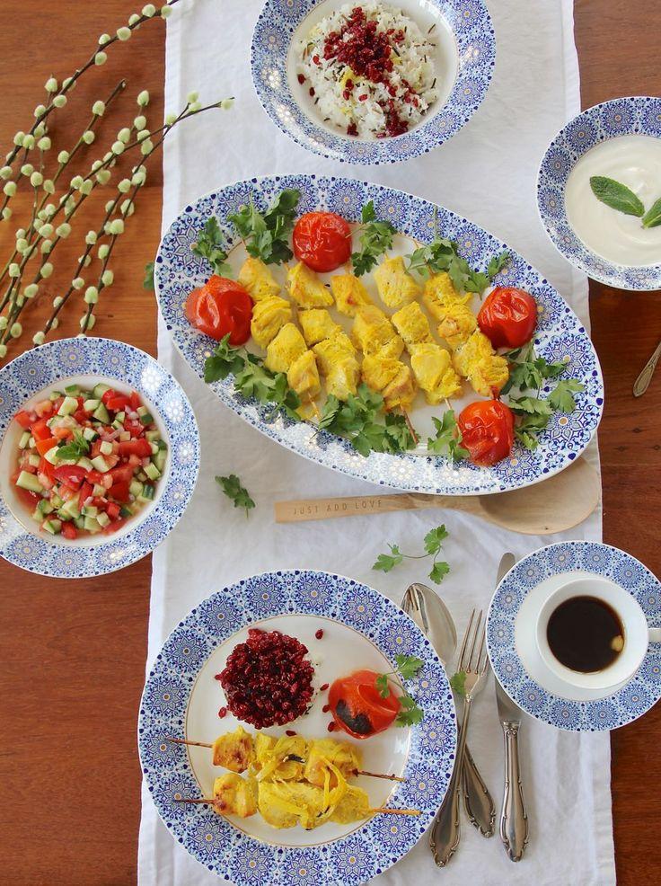 Djudje Kabab für Sizdah be dar – Persisches Hühnchen in Safran-Zitronen-Marinade <3  Labsalliebe