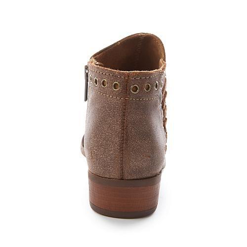 Minnetonka Brenna Vintage-Finish Leather Ankle Boot - Vintage Brown