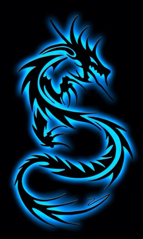 Black and blue dragon