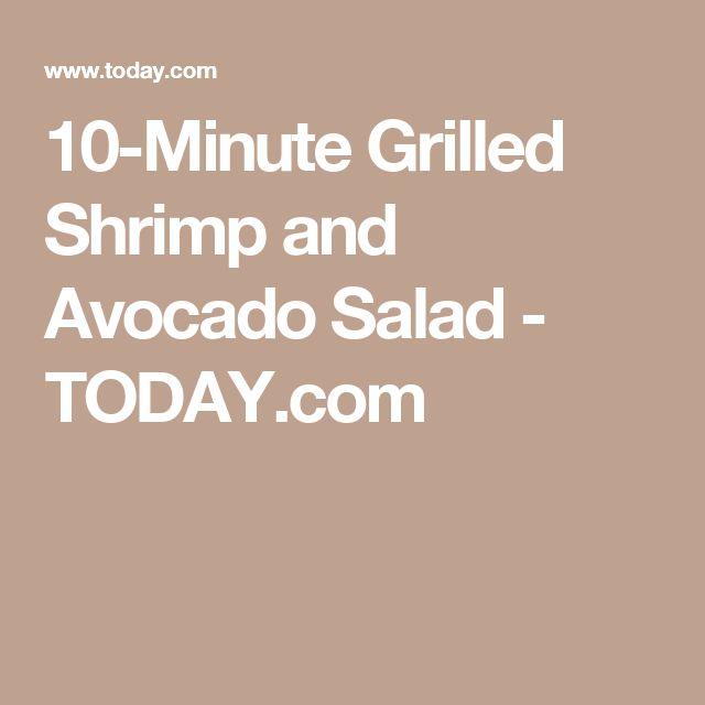 Grilled Shrimp And Avocado Salad With Asian Vinaigrette Recipe ...