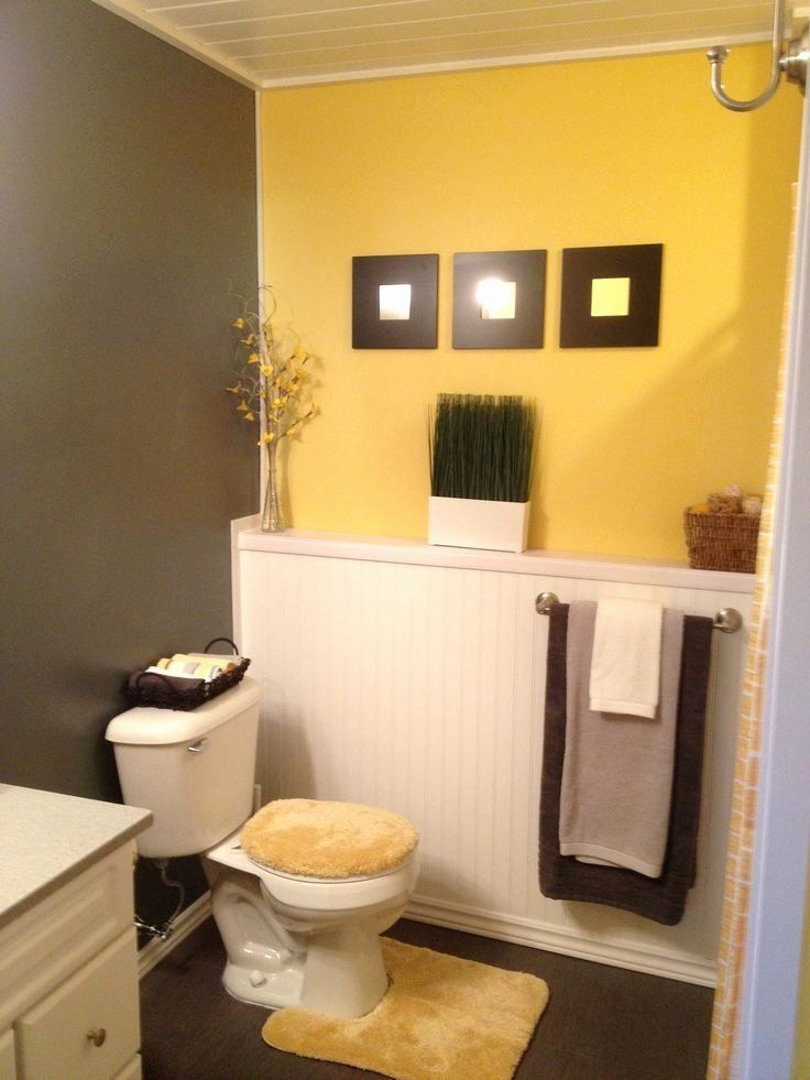 24 Gray And Yellow Bathroom Decor In 2020 With Images Yellow Bathroom Decor Gray Bathroom Decor Yellow Bathrooms