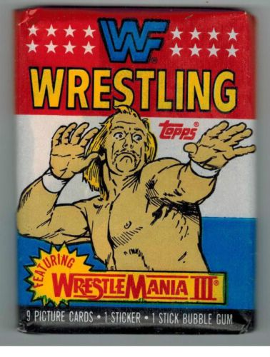 Unopened Pack 1987 Topps Wrestling Cards Sticker from Box Hulk Hogan Wrapper | eBay