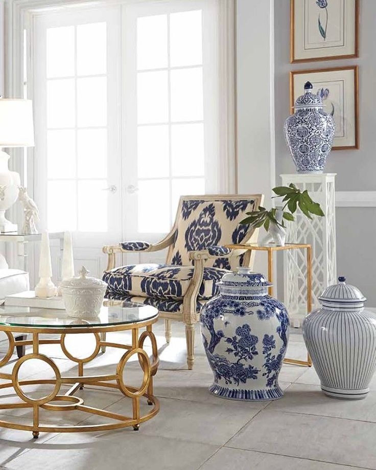Love these blues, whites and gold. ❤ Love our designer pieces? Discover them by clicking link in profile.