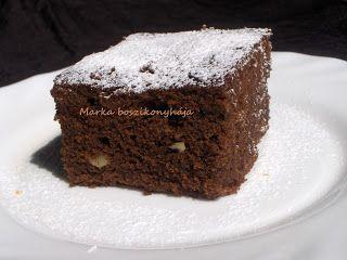 Diós-csokis brownie