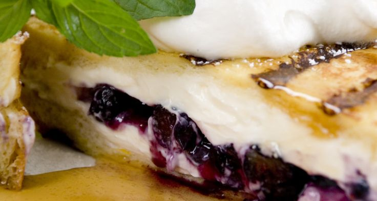 Grilled Stuffed Blueberry Marscapone French Toast