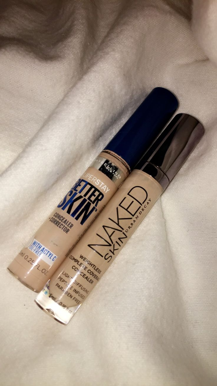 #dupethat  Maybelline Superstay Better Skin Concealer vs Urban Decay Naked Skin Concealer. $8.99 vs $28.00. Mainly Same Colors and same formula. Urban Decay's formula is a bit thicker than Maybelline's. Great Dupe.