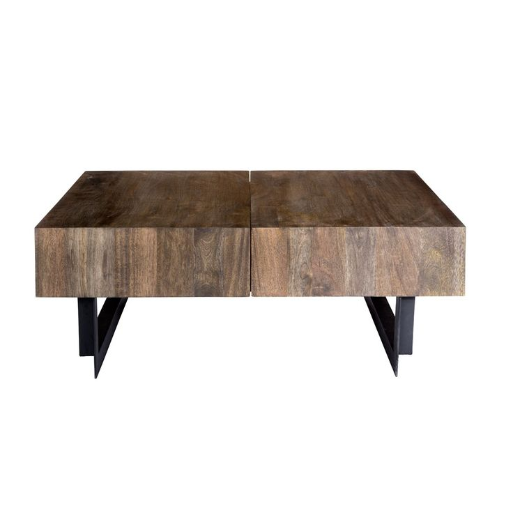 """Solid Wood Coffee Table - 42.5""""W"""