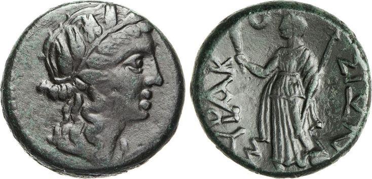 NumisBids: Numismatica Varesi s.a.s. Auction 65, Lot 17 : SICILIA - SYRACUSAE - PERIODO ROMANO (dopo 212 a.C.) Ae 21. D/...