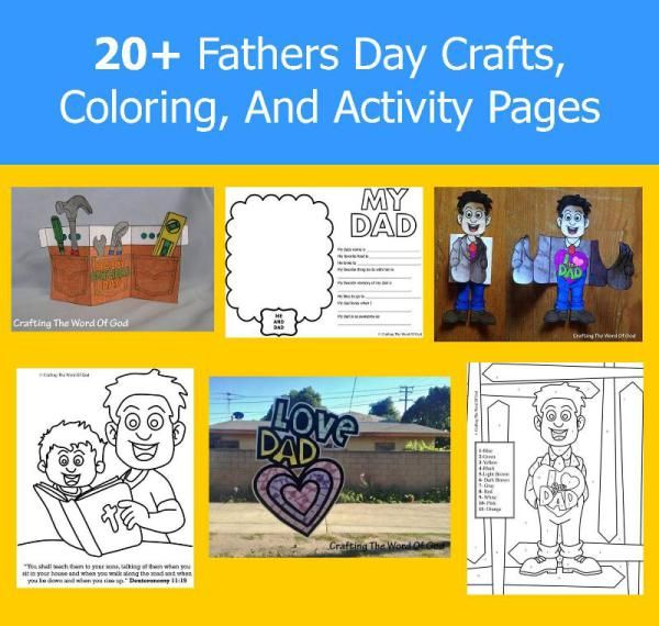 20 Fathers Day Crafts Coloring And Activity Pages