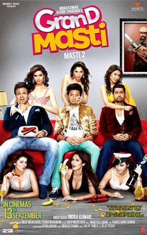 Grand Masti 2013 DVDRip x264 Hindi ESubs - ViZNU [P2PDL] at P2PDL.com  Grand Masti -- Meet, Prem, and Amar look to have a blast at their college reunion, though they soon find themselves in another predicament.  Enjoy!!!