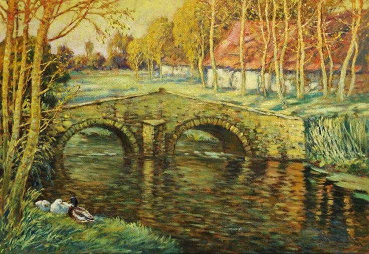 Václav Radimský - Most přes řeku v Opatovicích