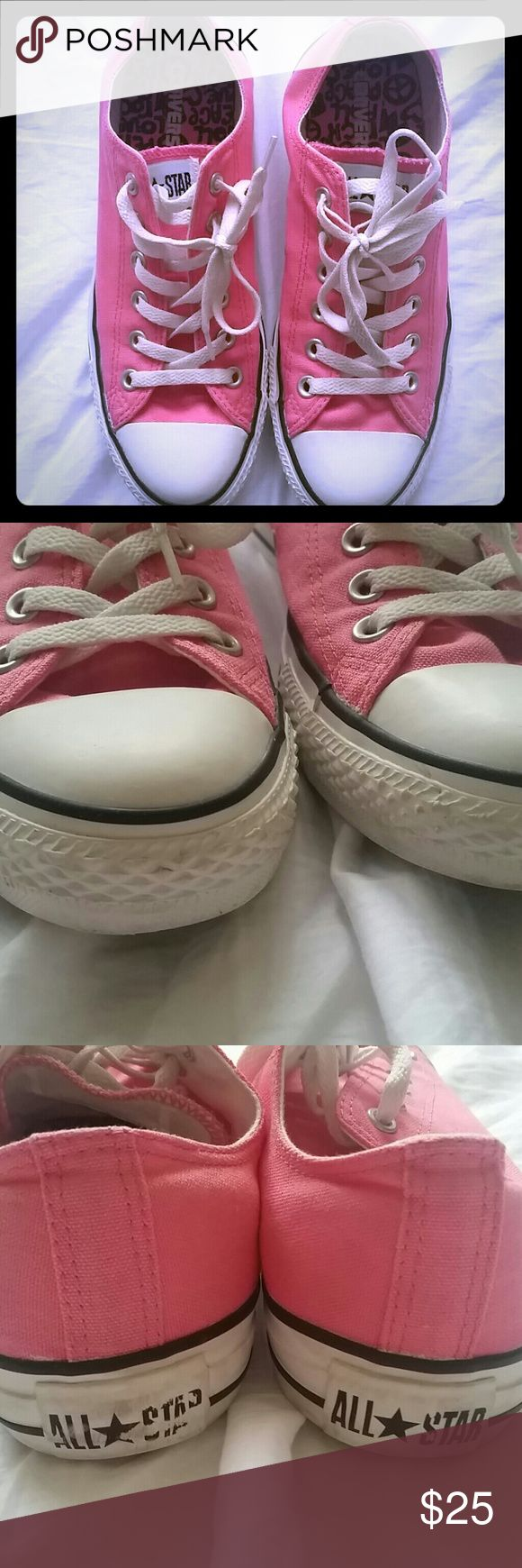 Pink Lady Converse Sneakers Excellent condition, minor scuffs (mostly the heel and toes). Rarely worn. Converse Shoes Sneakers