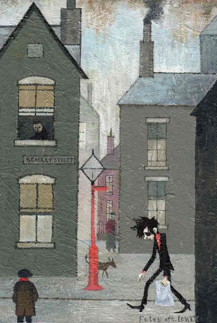 Andrew Foley - A 'toon a day : Photo John Cooper Clarke meets LS Lowry