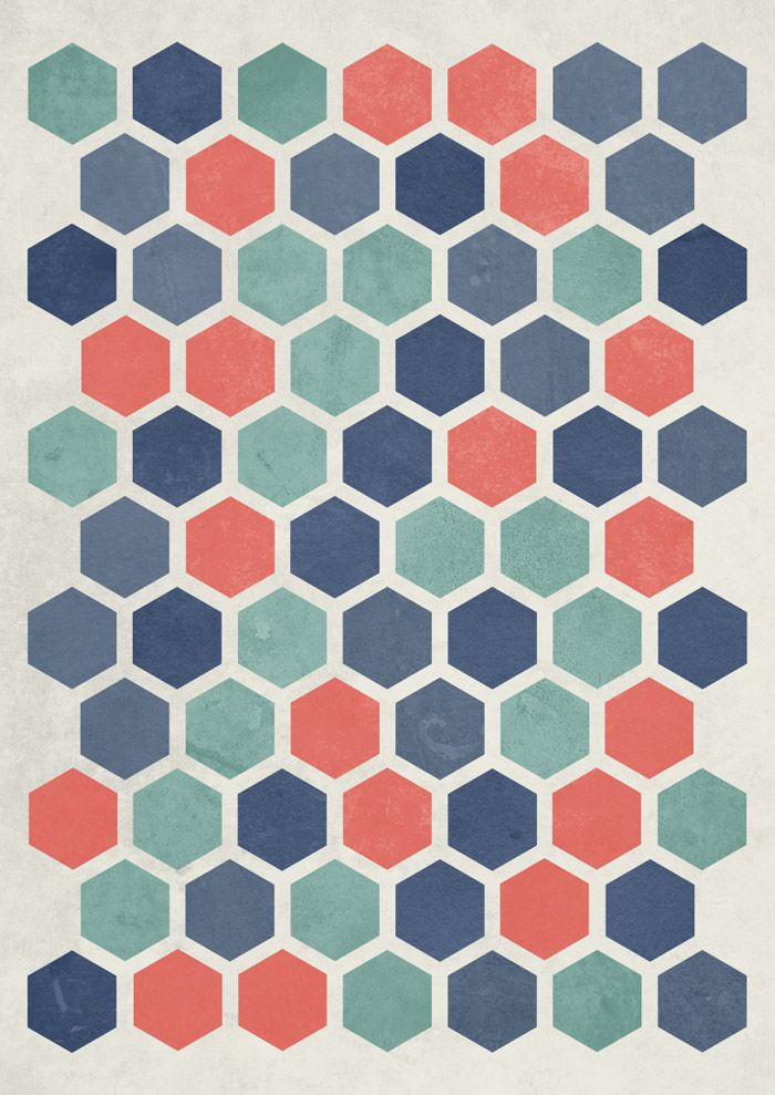 Nice colours    How to make this textured hexagon pattern in illustrator and photoshop by blog spot graphics
