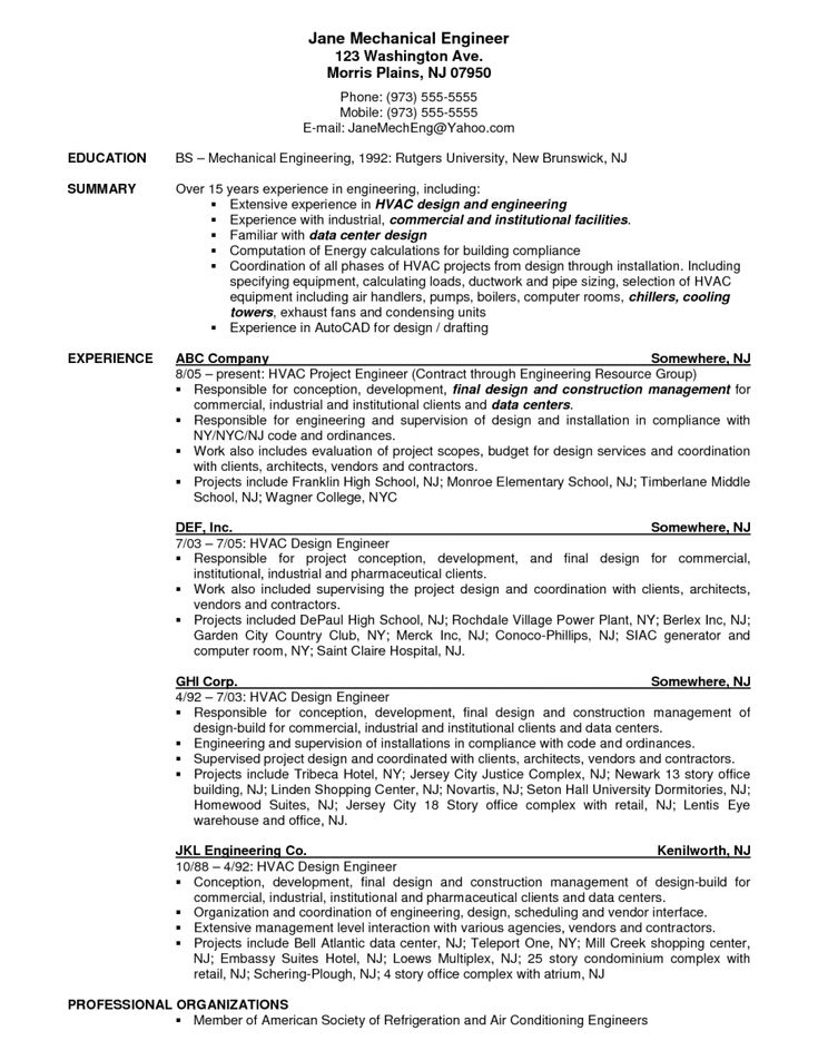 Hvac Resume Objective hvac resume objective u2013 foodcityme hvac - hvac resume objective