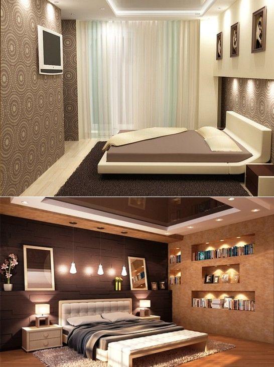 Коричневая спальня. Дизайн коричневой спальни в фото   Дизайн интерьера