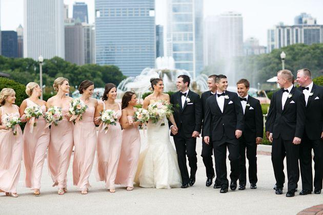 Brides: A Golden Garden-Inspired Wedding at Chicago's Blackstone Hotel Romantic floral Pistil & Vine