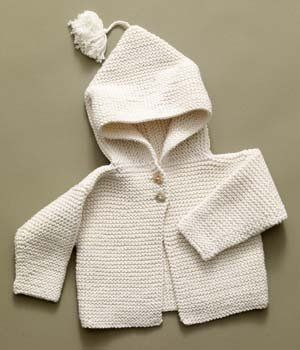 Free+Knitting+Pattern+-+Baby+Sweaters:+Tied+Hoodie