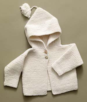 Free+Knitting+Pattern+-+Baby+Sweaters:+Tied+Hoodie