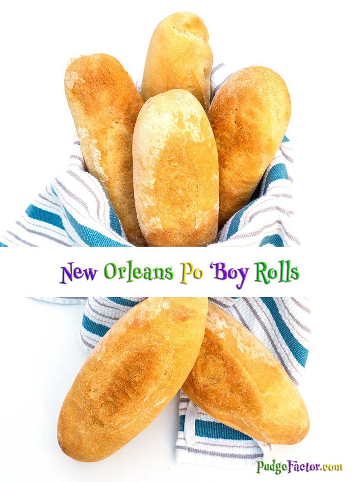 New Orleans Po 'Boy Rolls are known for their light crispy crust and fluffy interior. They are perfect for sopping up the various fillings that adorn them. via @c2king