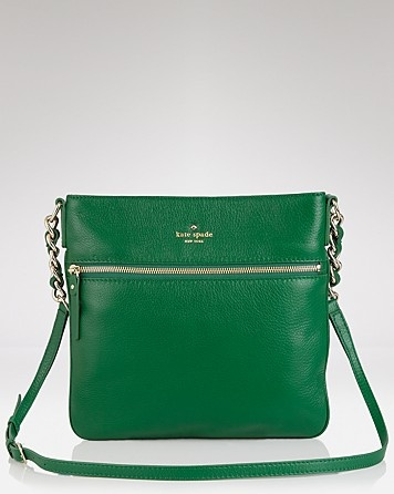 Kate Spade cross-body for my love affair with kelly green.