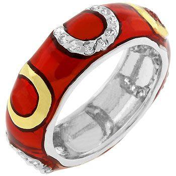 Red Horseshoe Enamel Ring (size: 09)  http://atomicfleamarket.com/horseshoe-enamel-ring-size-p-10869.html