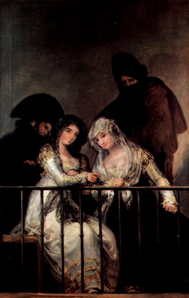 Majas al balcone, Goya, olio su tela, 1808-1814, Metropolitan Museum of Art, New York