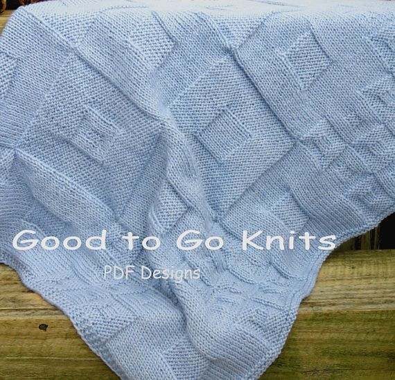 Knitting Pattern  Baby Blanket  PDF Download