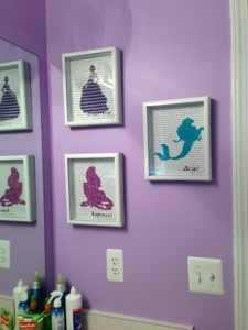 Disney Princess Shadow Boxes with song lyrics  http://kristinadefined.wordpress.com/