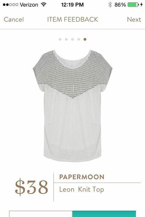 Cute and simple. Papermoon Leon knit top. Want to take Stitch Fix for a spin? Get hand-selected clothing and accessories, delivered straight to your door. Fill out a style profile now to get started! My Stitch Fix referral link: stitchfix.com/referral/4870835 (in case you want to sign up & give Stitch Fix a try ... I adore the Stitch Fix experience!)